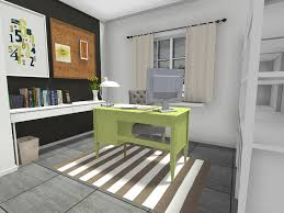 great home office. RoomSketcher-Home-Office-Modern-Traditional-Design-with-Black- Great Home Office
