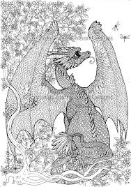 Small Picture New Dragon adult colouring 5 page pdf booklet now available Mad