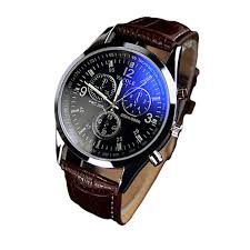aliexpress com buy splendid new luxury fashion faux leather men aliexpress com buy splendid new luxury fashion faux leather men blue ray glass quartz analog watches casual cool watch brand men watches 2016 from