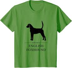 English Foxhound Black Silhouette ...