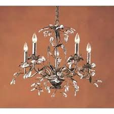 elk lighting five light chandelier rope 5