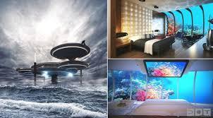 dubai designs lighting lamps luxury. Luxury Underwater Disc Hotel, Dubai Designs Lighting Lamps