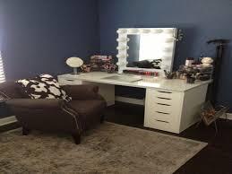 Bedroom Makeup Vanity With Lights Fresh Vanity Makeup Set With Lights Table  And For Bedroom Interalle