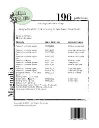 Magnolia Quilt Pattern – Bella Nonna Design Studio & Magnolia-WEB; MAGNOLIA Pattern Back Adamdwight.com