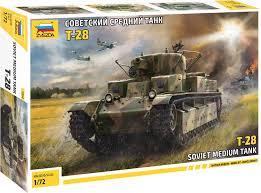5064 <b>Звезда</b> (<b>Zvezda</b>) 1:72 T-28 Soviet Medium Tank (Т-28 ...
