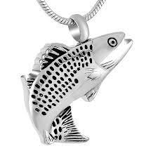 fish cremation urn pendant pets urn cremation keepsake pendant hold ashes funeral casket 20 snake chain