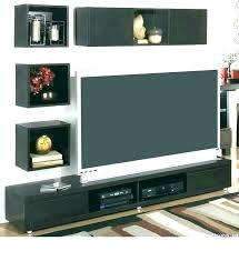 wall tv stand with shelves cabinet on interior floating mount