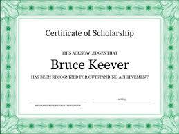 Certificate Of Scholarship Formal Green Border