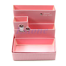 diy decorated storage boxes. Paper Board Storage Box Desk Decor DIY Stationery Makeup Cosmetic Organizer New 664078563142 | EBay Diy Decorated Boxes A