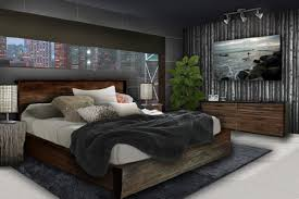 Bedroom  Boys Bedroom Masculine Bedroom Decor With Cozy Bed Sheet - Guys bedroom decor