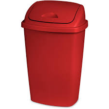 hefty touch lid 133 gallon trash can red com d4dl7