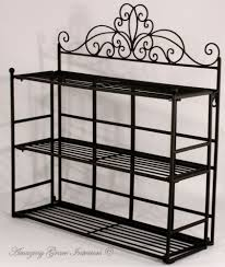 shabby chic black metal wall shelf storage unit display metal kitchen wall shelves uk