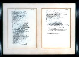 on art and government the poem robert frost didn t at jfk s   dedication by robert frost handwritten and signed by the author 20 1961 courtesy john f kennedy presidential library and museum boston