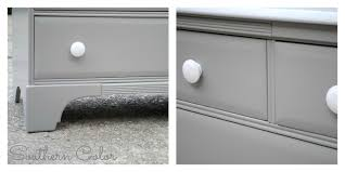 Southern Color: Painted Furniture: Grey Changing Table