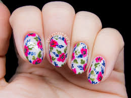 Toe Nail Designs Flowers 25 Flower Nail Art Design Ideas Easy Floral Manicures For
