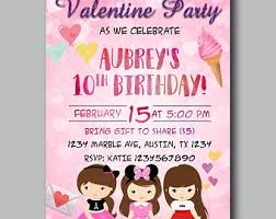 valentines party invitations valentine invite etsy