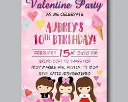 valentines party invitations valentine invite etsy