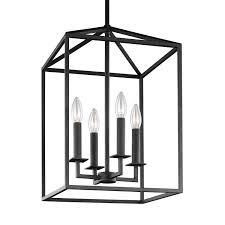 four light lantern pendant hover to zoom