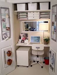 small home office storage ideas small. Work Space Idea For Closet. Home Office StorageHome DecorOffice IdeasSmall Small Storage Ideas Pinterest