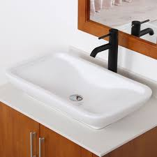 Bathroom Lavatory Sink Elite Ceramic Bathroom Sink With Unique Rectangle Design Tr40155