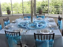 Winter Wedding Decor Winter Wedding Theme Blue Chair Sashes And Table Decor Blue