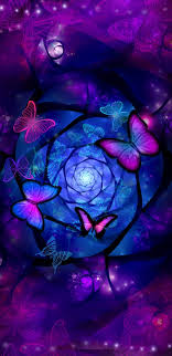 Purple butterfly wallpaper ...