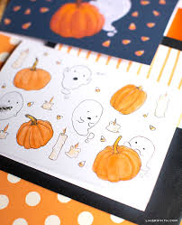 Get excited for october 31 with these cute halloween coloring pages for kids and toddlers. Enjoy These Free Printable Halloween Cards Lia Griffith