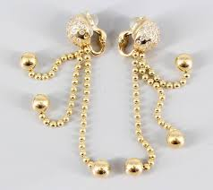elegant diamond and 18k yellow gold chandelier earrings from the