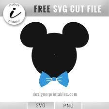 Free Svg Disney Mickey Mouse W Bow Tie Designer Printables