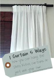 1 curtain 5 ways ikea ritva or use your own curtains