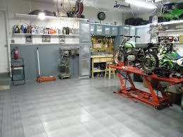 garage flooring install race deck