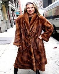 fendi designed pre owned wild type mink directional coat size 12 14