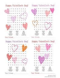 Word Search Printable Valentines - About A Mom