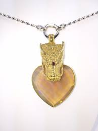 exquisite extremely rare sacred heart ethopian honey opal gold plated dragon pendant opalescent 925