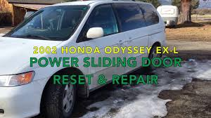 honda odyssey power sliding door reset and repair