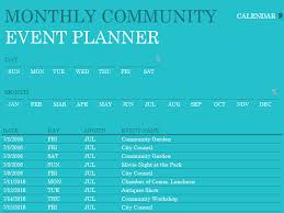 Event Planner Excel Download Community Event Planner Excel Template