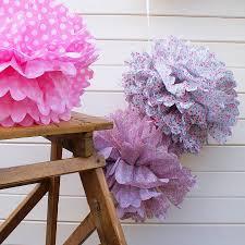 Pom Pom Decorations Tissue Paper Pom Poms Set Of 15 Wedding Decorations Wedding Pom