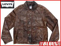 prompt decision levis men s l leather jacket levi s tea brown original leather g jean