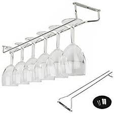 Metal wine glass rack Hanging Now 865 Wantitall Under Cabinet Wine Glass Rack Gloednapple Stainless Steel Wine Rack