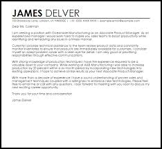 Cover Letter For Product Manager Position Associate Product Manager Cover Letter Sample Cover Letter