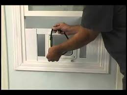 installing the aluminum sash window pet door by ideal