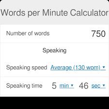 Words Per Minute Calculator Speech And Reading Omni