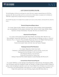 Sat Essay Example Bank Peak Performance Test Prep