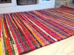 cotton rag rugs multi coloured stitch rug target from india
