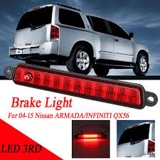 Brake Light On Nissan Armada Us 29 19 6 Off Red Smoke Car Center High Mount 3rd Third Stop Light Brake Light For Nissan Armada Infiniti Qx56 04 15 26590 7s000 1piece On