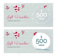Christmas Gift Coupon Cute Hand Drawn Christmas Gift Voucher Coupon Discount Gift