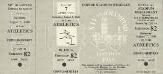 Tickets Olympic Games 1948 London