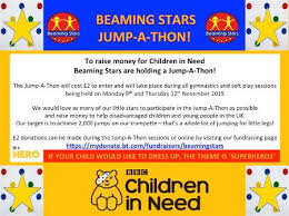Beaming Stars Jump A Thon For Bbc Children In Need On Mydonate