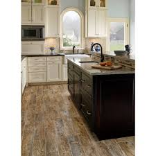 Tile Flooring For Kitchen Ms International Redwood Natural 6 In X 24 In Glazed Porcelain