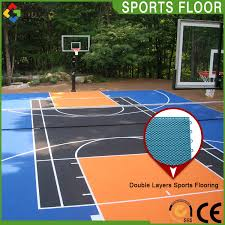 widely use outdoor full court basketball court backyard flooring cost outdoor basketball sports court tiles